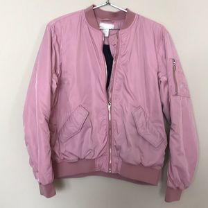 HM | Bright Baby Pink Bomber Puffer Jacket